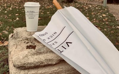 Umbrellas and Coffee at Taunton Hairdressers – Vital